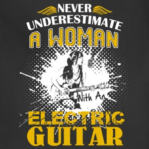 Woman With An Electric Guitar Shirt - Adjustable Apron