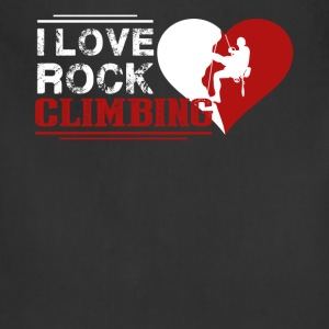 I Love Rock Climbing Shirt - Adjustable Apron