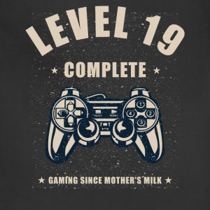 Level 19 Complete Video Gaming T Shirt - Adjustable Apron