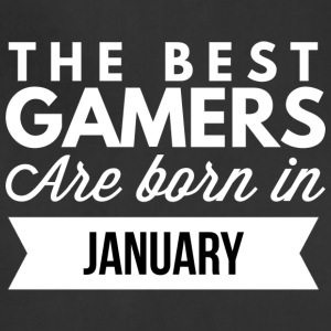 The best Gamers are born in January - Adjustable Apron