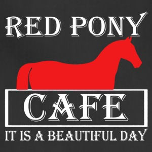 Red Pony Cafe Shirt - Adjustable Apron