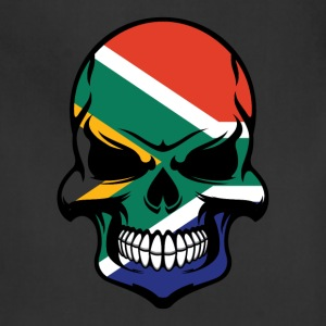 South African Flag Skull Cool South Africa Skull - Adjustable Apron