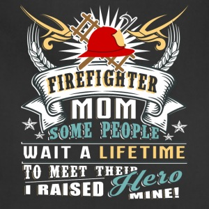 Proud To Be A Firefighter Mom T Shirt - Adjustable Apron