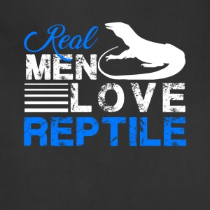 Real Men Love Reptile Shirt - Adjustable Apron