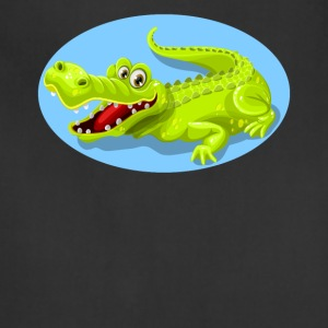 Cartoon Crocodile Vector Design - Adjustable Apron