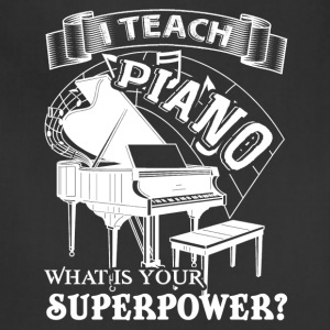 Piano Teacher T shirt - Adjustable Apron