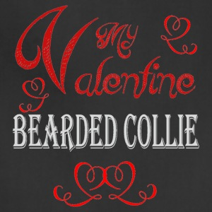 A romantic Valentine with my Bearded Collie - Adjustable Apron
