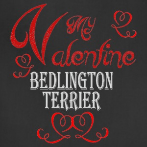 A romantic Valentine with my Bedlington Terrier - Adjustable Apron