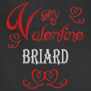 A romantic Valentine with my Briard - Adjustable Apron