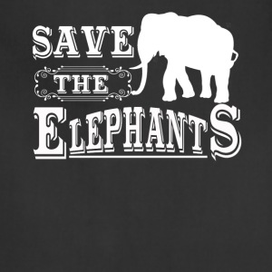Save The Elephants Shirt - Adjustable Apron