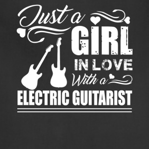 Girl In Love With Electric Guitarist Shirt - Adjustable Apron