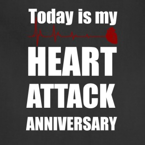 Heart attack anniversary - Adjustable Apron