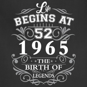 Life begins at 42 1965 The birth of legends - Adjustable Apron