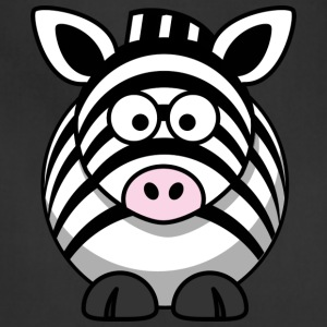 Funny Zebra Comic Style - Adjustable Apron