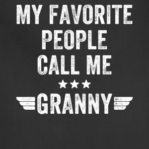 My favorite people call me granny - Adjustable Apron