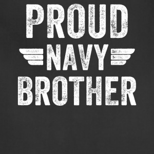 Proud navy brother - Adjustable Apron