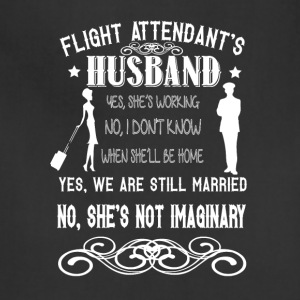 Flight Attendant's Husband T Shirt - Adjustable Apron