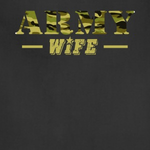 Army Wife Shirt - Proud US Army Wife T-Shirt - Adjustable Apron