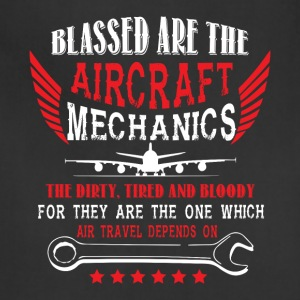 The Aircraft Mechanics T Shirt - Adjustable Apron