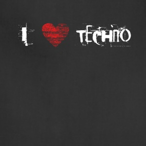 I love techno rave goa hardtek hardstyle - Adjustable Apron
