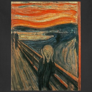 The Scream (Textured) by Edvard Munch - Adjustable Apron