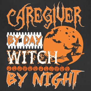 Caregiver By Day Witch By Night Halloween - Adjustable Apron