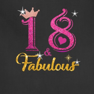 18 fabulous queen shirt 18th birthday gifts - Adjustable Apron
