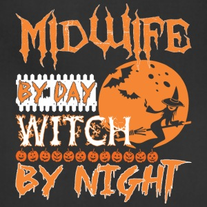 Midwife By Day Witch By Night Halloween - Adjustable Apron