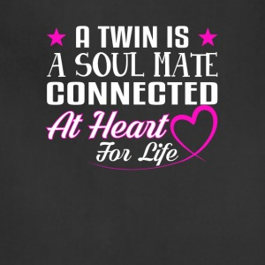 Twins Soul Mate Connected Heart For Life - Adjustable Apron