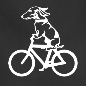 Dog on byclce shirt- Funny DOg On Bicycle tshirt - Adjustable Apron