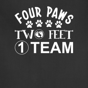 Four Paws Two Feet One Team Dog Lover - Adjustable Apron
