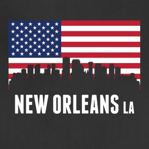 American Flag New Orleans Skyline - Adjustable Apron