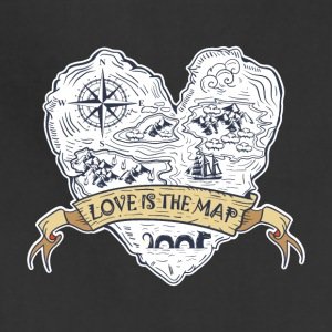 Love is the map - Adjustable Apron