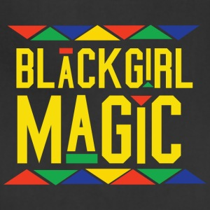 Black Girl Magic - Tribal Design (Yellow Letters) - Adjustable Apron