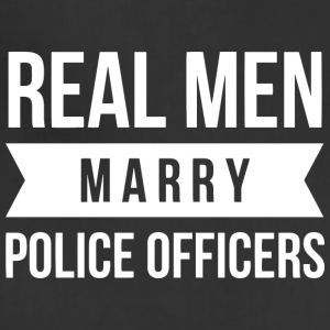 Real Men marry Police Officers - Adjustable Apron