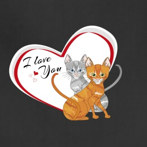 cat in love - Adjustable Apron