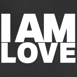 I Am Love - Ivy Design (White Letters) - Adjustable Apron