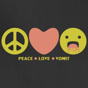 Peace love vomit anti hippie smiley emoticon - Adjustable Apron