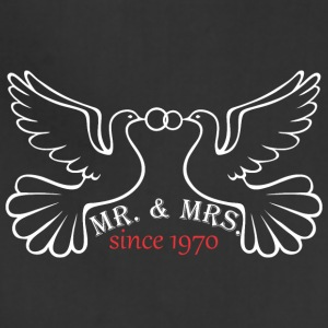 Mr And Mrs Since 1970 Married Marriage Engagement - Adjustable Apron