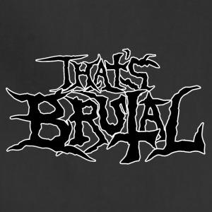 ThatsBrutalLogoBlack - Adjustable Apron