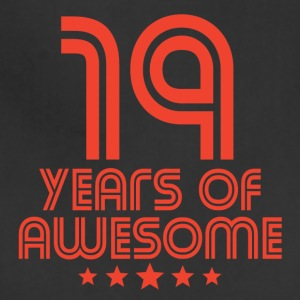 19 Years Of Awesome 19th Birthday - Adjustable Apron