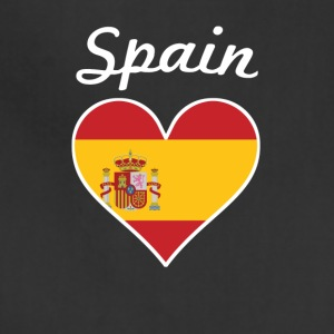 Spain Flag Heart - Adjustable Apron