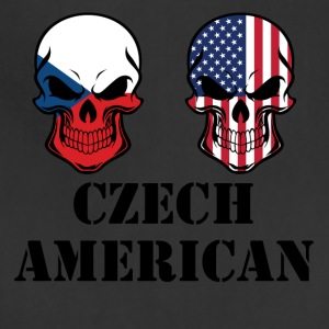 Czech American Flag Skulls - Adjustable Apron