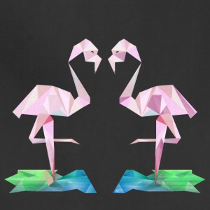 Low poly flamingos - Adjustable Apron
