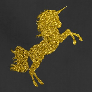 Golden Unicorn - Gold Glitter Horse Fable Tale - Adjustable Apron
