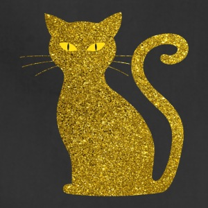 golden cat - kitten kitty cat gold love pet - Adjustable Apron