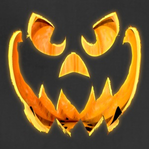 3D Glowing Scary Jack-o-Lantern Face - Adjustable Apron