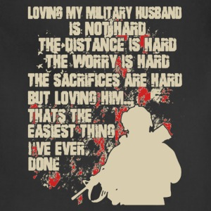 Love My Military Husband Shirt - Adjustable Apron
