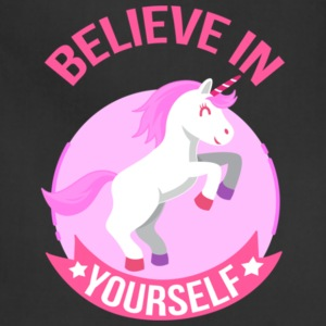 Unicorn Believe In Yourself Gift Shirt Pre - Adjustable Apron