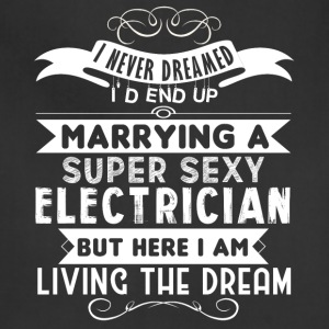 I'd End Up Marrying A Electrician T Shirt - Adjustable Apron